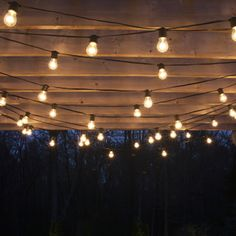 Drape patio lights from pergolas
