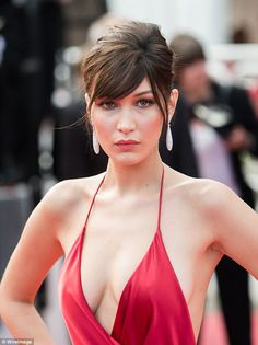 Side swept fringe: If you're nervous about getting a shorter fringe the stylist recommends trying a longer fringe like model Bella Hadid at the 2016 Cannes Film Festival