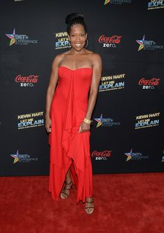 yeahh!!!  Actress Regina Kingarrives at the premiere of Summit Entertainment and Code Black Film's 'Kevin Hart: Let Me Explain' at Regal Cinemas L.A. Live on June 27, 2013 in Los Angeles