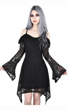 Women's Clothing Humor Women Sexy Lace Dress Steampunk Goth Dark Long Sleeve Dress Autumn Back Lace-up Dress Hollow Out See Through Dress Ladies Matching In Colour
