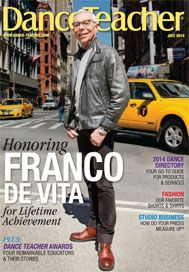 Franco De Vita, head of American Ballet Theatre's Jacqueline Kennedy Onassis School and recipient of our Lifetime Achievement Award, is our July cover star: http://bit.ly/1qNjrJ9  Photo by Kyle Froman
