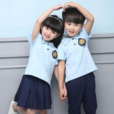 summer children's school uniform clothing Short sleeve chorus of primary school students reading British student school uniforms Preppy Summer Outfits, Preppy Kids, Summer School Outfits, Summer Clothes, Short Outfits, Outfits For Teens, School Outfits Highschool, Cute School Uniforms, Summer Clothing