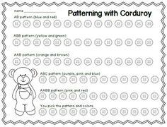 Patterning with Corduroy FREEBIE!