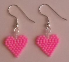 Valentines Beaded Bubble Gum Pink Heart Seed Beads by FoxyMomma