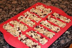 Nutty Granola Bars --- can be gluten free when usin GF oats. My Hubby will have one for breakfast and my son thinks they are cookies.