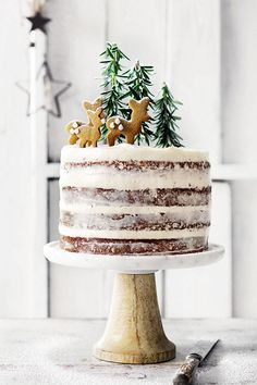 Want to bring a fun, festive treat to Christmas this year? Try Donna Hay's hazelnut and brandy forest cake with cream cheese icing recipe.