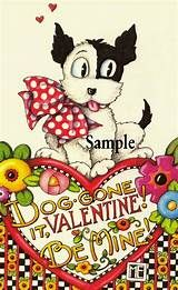 Valentine Pup Postcards from Mary