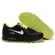 timeless design 2a9ec 3482c Only $80.99 Plus Free Shipping, NIKE AIR MAX 90 MENS SHOES Black Green On  8xstore