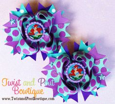 Ariel The Little Mermaid Boutique Hair Bows