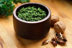 Kale Pesto: Pesto isn't just reserved for basil. This recipe tosses raw kale with sunflower seeds into a food processor with lemon and a few more ingredients to create kale pesto. This healthy pesto is great on pasta or whole grain bread but would also work well as a dip for raw veggies.  Source: Flickr user CanolaInfo