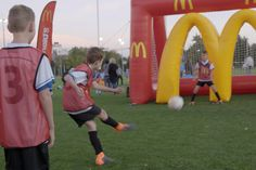 Inflatable McDonald's target arch soccer goals