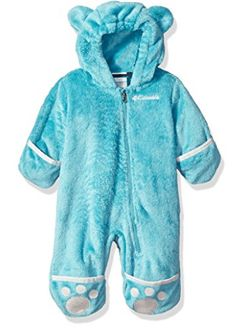 Columbia Baby Girls' Foxy Baby II Bunting, Miami/Spray, Months: Cozy your cub up in this ridiculously plush high-pile fleece bunting, featuring fold-over cuffs to keep tiny hands and feet delightfully warm. Baby Girl Snowsuit, Columbia Girls, Look Good Feel Good, Snow Suit, Future Baby, Bunting, Hooded Jacket, Miami, Babe