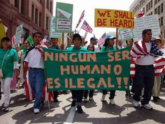 """Don't use the term """"ILLEGAL """". No human is """"illegal"""""""