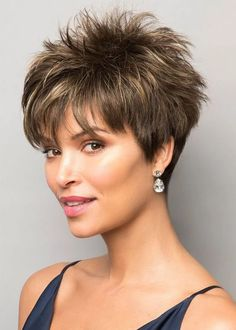 Pixie Boy Cut Hairstyles Women's Short Length Straight Synthetic Hair Wigs Capless Wigs Pixie Boy Cut Hairstyles Women's Short Length Straight Synthetic Hair Wigs Capless Wigs hair cuts for women Short Hairstyles For Thick Hair, Short Pixie Haircuts, Pixie Hairstyles, Short Hair Cuts, Curly Hair Styles, Pixie Cuts, Short Grey Hair, Fashion Hairstyles, Short Womens Hairstyles