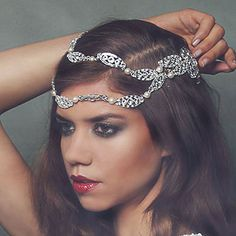 Swarovski Crystal Enchantment Draping Headdress by Fabledreams