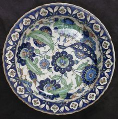 Dish Date:17th century Geography:Turkey Medium: Ceramic, underglaze painted Dimensions:3.00 in. high ( cm high) Classification:Ceramics