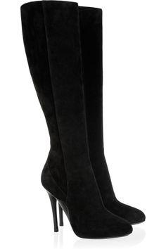 the perfect black suede boots !! ralph lauren