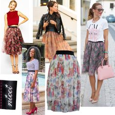 Magnificent items for #SS16 #NicciSummer16 #floral #mesh #skirt #tulle