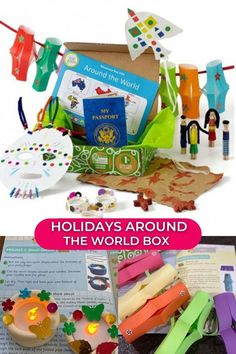 We have created a special limited-edition box that will inspire your young geographer this holiday season! The cultural activities in our Holidays Around the World Box will take your traveler to six exciting places: Japan, India, Africa, Guatemala, Australia, and China. At each stop we'll find a wealth of crafting inspiration as we learn about a unique culture and holiday traditions while developing our appreciation for the differences that make the world, and its people, beautiful.