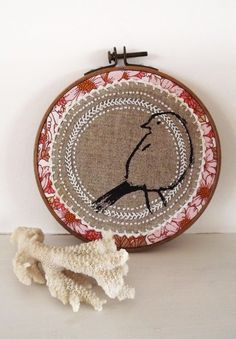 Little Sparrow Embroidery Hoop Picture.