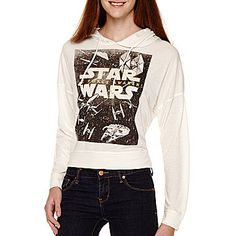 jcp | Star Wars® Long-Sleeve Shy Square Hoodie