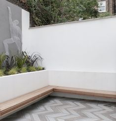 Lazenby's Platinum Grey pre-cast concrete floor tiles are a striking feature, for the external patio of this London home. Manufactured by Lazenby to exacting standards ready for installation by the architect's contractor. Platinum Grey, Concrete Tiles, Polished Concrete, Stair Treads, Tile Floor, It Cast, Stairs, Home And Garden, Farmhouse