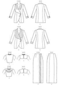 Retro-1912-Butterick-Sewing-Pattern-Misses-039-Jacket-Skirt-DOWNTON-8-22-B6108