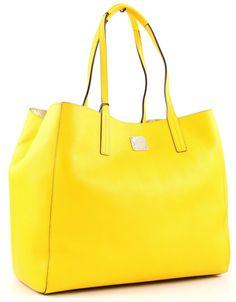 wardow.com - Tasche von #MCM, Shopper Project Leather, #Neon-Gelb