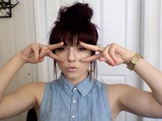 ★HAIR TUTORIAL: HOW TO FAKE BANGS WITH BUN / TOP KNOT HAIRSTYLES FOR MEDIUM LONG HAIR - YouTube