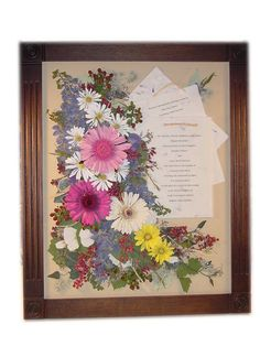 trying to come up with ideas of what to do with the flowers from my moms memorial service