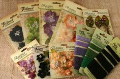 """Petaloo flowers, Petaloo trims, berries and more!  These Petaloo goodies are a PERFECT MATCH to the Graphic 45  HALLOWEEN """"Eerie Tale"""" paper!!  You're gonna want to enter this contest on the Petaloo Blog & Petaloo FB page!!!"""