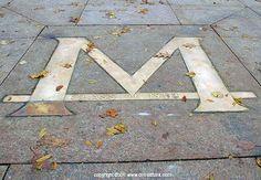 "Michigan ""M"" on the Diag, Ann Arbor."