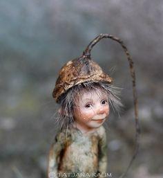 One of a kind miniature artdoll Burli 1:12th by Tatjana by chopoli