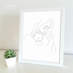 Doodle Diary, Holding Baby, Print Store, Digital Illustration, Line Art, Art Sketches, Finding Yourself, Doodles, Printables