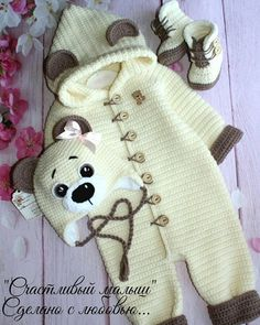 Baby romper set Newborn boy romper overalls Outfit beige overall Baby diaper cov. - Baby romper set Newborn boy romper overalls Outfit beige overall Baby diaper cover Baby home outfit - Newborn Crochet Patterns, Baby Patterns, Crochet Ideas, Free Crochet, Crochet Baby Clothes, Crochet Shoes, Crochet Romper, Baby Outfits, Pull Bebe