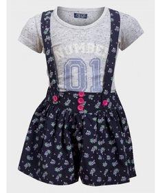 Set tricou/pantaloni scurti Minoti pentru fete