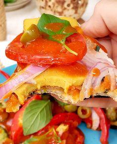 Вкусна пица на тиган с много зеленчуци и веган кашкавал Vegan Pizza, Pancakes, Sandwiches, Breakfast, Food, Roll Up Sandwiches, Morning Coffee, Meal, Crepes