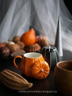 パンプキンマグオレンジ / ブラック (Pumpkin Mug, Orange & Black)