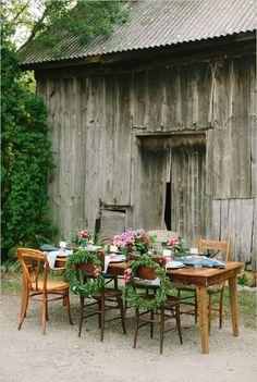 Farm wedding reception ideas. Captured By: Laurelyn Savannah Photography ---> http://www.weddingchicks.com/2014/06/04/fantastic-farm-wedding-kept-local/