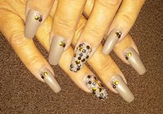 Gems, bling and metal on my coffin nails
