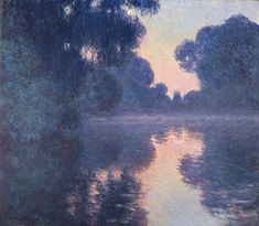 Claude Monet Paintings-Arm of the Seine near Giverny at Sunrise , 1897 Claude Monet, Monet Paintings, Landscape Paintings, Artist Monet, Wow Art, Impressionist Paintings, Oil Painting Reproductions, Renoir, Oeuvre D'art