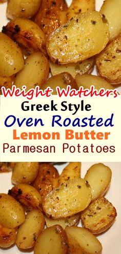 Greek Style Oven Roasted Lemon Butter Parmesan Potatoes – Page 2 – Home Family Recipes Red Skin Potatoes Recipe, Lemon Roasted Potatoes, Butter Potatoes, Greek Potatoes, Parmesan Potatoes, Oven Potatoes, Roasted Garlic, Mashed Potatoes, Red Potato Recipes