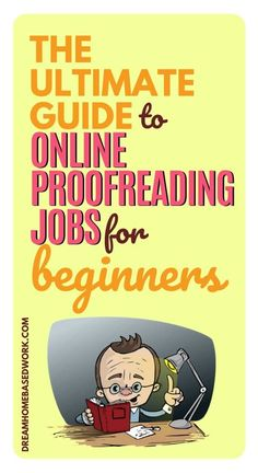 Looking for online proofreading jobs for beginners? If you have good spelling and grammar skills, you can easily become a proofreader and work from home. Grammar Skills, Spelling And Grammar, Work From Home Companies, Work From Home Jobs, Home Based Work, Typing Jobs, Job Info, Freelance Writing Jobs, Writing Tips
