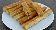 If you love baklava, you can make this easy, vegan, healthier version at home. Walnuts wrapped in phyllo and drizzled with syrup is a perfect dessert any time of the day. Greek Sweets, Greek Desserts, Greek Recipes, Arabic Sweets, Baking Desserts, Baking Recipes, Cookie Recipes, Fudge, Zucchini Patties