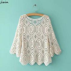 Crochet Blouse Fashion Boho Chic – Hippie BLiss - New Site Crochet Collar, Crochet Blouse, Crochet Lace, Crochet Bodycon Dresses, Black Crochet Dress, Bohemian Mode, Boho Chic, Bohemian Schick, Moda Boho
