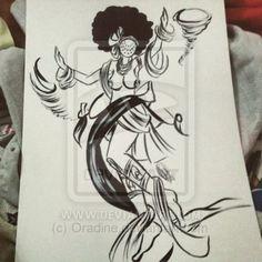 Iansa by Orádia N.C Porciúncula/ Licença Creative Commons 3.0 Atribuição - Uso Não-Comercial-Proibição de realização de Obras Derivadas CC BY-NC-ND Oya Goddess, Goddess Warrior, Warrior Queen, Tattoo Drawings, Body Art Tattoos, New Tattoos, I Tattoo, Tatoos, Orisha