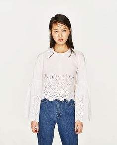 Image 4 of TOP WITH TIED DETAIL from Zara Who What Wear bbef91911