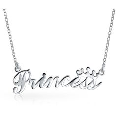 Bling Jewelry Princess Crown Pendant Sterling Silver Necklace 16... ($19) ❤ liked on Polyvore featuring jewelry, pendants, silver, long pendant, chain pendant necklace, chain pendants, crown pendant and pendant jewelry