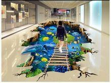 beibehang Sea Dolphin Ladder Photo Wallpaper Living Room Bedroom Bathroom Self-adhesive Floor Mural Wall paper papel contact Floor Wallpaper, Painting Wallpaper, Bathroom Wallpaper, Custom Wallpaper, Photo Wallpaper, Floor Painting, Wall Stickers Ocean, Floor Stickers, Floor Murals