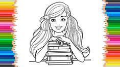 Barbie Princess Drawing Coloring Pages l Coloring Markers Videos For Chi...